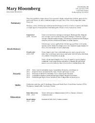 Simple Resume Template 2018 Interesting Basic Resume Samples Resume Format Latest Templates In Word Within