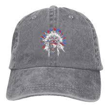 Native American Design Hats Amazon Com Native American Cowboy Cap Unisex Adjustable Dad