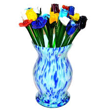 hand blown glass flowers hand blown glass vase with glass flowers by panache hand blown glass hand blown glass flowers