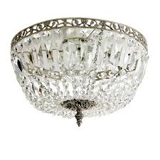 gustavian bathroom chandelier nickel plafond 36cm with octagon crystals 103 615 501