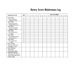 Maintenance Log Template Free Word Excel Documents Machine Manual