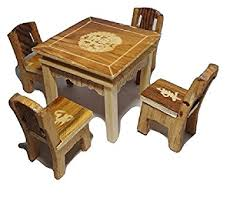 sakshi wooden handmade dining table with 4 chair