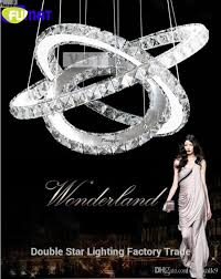 fumat hot diamond 3 ring led crystal modern chandelier light pendant lamp circles 100 guarantee diffe size position pink chandelier sputnik