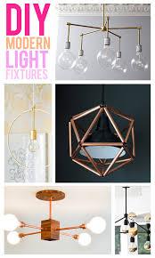 glitter and goat cheese diy modern light fixtures