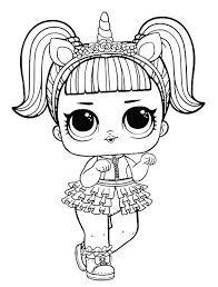 In case you don\'t find what you are looking for, use the top search bar to search again! Unicorn Lol Doll Coloring Page For Girls Coloring And Drawing