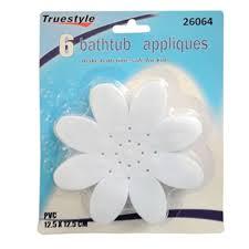 12 bathtub decals non slip flower white stickers tread suction safety tub shower com