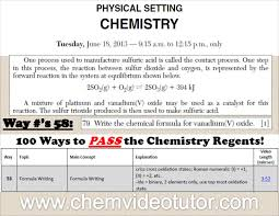 How To Pass The Chemistry Regents Pdf