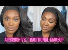 airbrush vs traditional makeup very
