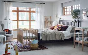 white furniture bedrooms. A Beige, Brown, Red And Yellow Adult Bedroom With SNIGLAR Cot Changing White Furniture Bedrooms