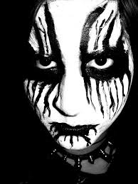 gothic metal styled sfx makeup idea pairs great with some black gothic fx contacts