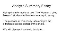 writing portfolio mr butner ppt video online  analytic summary essay