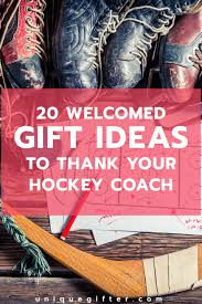 20 weled gifts to thank your hockey coach