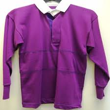 discontinued purple gold rugby shirts