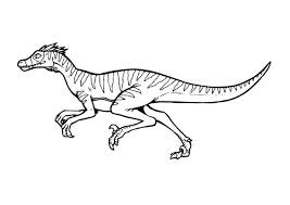 Small Picture Lovely Velociraptor Coloring Page 56 With Additional Coloring For