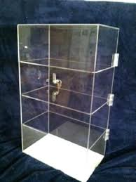 acrylic display case x 7 tall locking security showcase for countertop used