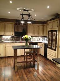 image of gel stain oak kitchen cabinets