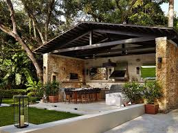 covered outdoor kitchens with fireplace. Perfect With Let S Eat Out 45 Outdoor Kitchen And Patio Design Ideas  Pavilion Designs On Covered Kitchens With Fireplace