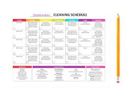 Monthly Cleaning Schedule Nanny Template Baby Daily Planner