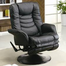 office reclining chair. Black Leatherette Modern Swivel Recliner Chair W/Round Base Office Reclining
