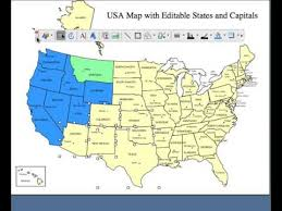editable us map powerpoint editable usa and canada powerpoint and illustrator royalty free clip