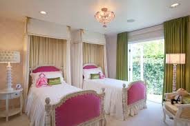 gorgeous bedroom recessed lighting ideas. Gorgeous Ceiling Lighting With Green Curtains And Ideas For Little Girls Bedroom Also Twin Beds Plus Upholstered Headboard Recessed