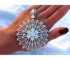 gigantic diamond pendant brooch with