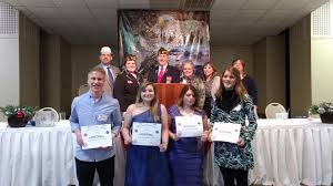 vfw honors student essay contest winners merrill foto news local winners of the vfw post 1638 voice of democracy essay contest were front from