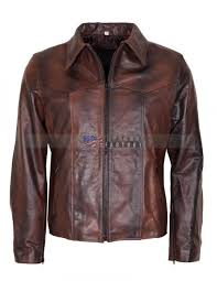 mens brown racer leather jacket