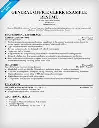 General Office Clerk Sample Resume 3 General Office Clerk Resume