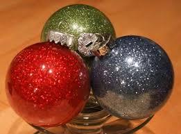 diy glitter ornaments with pledge