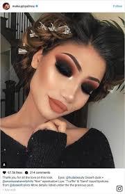 fall eye makeup and lip