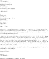 Sample Cover Letter For Retail Job Cover Letter Examples For Retail ...