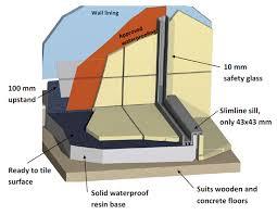 waterproofing tiled shower system ava crest showers