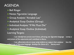 act ii figurative language metaphor extended metaphor simile  2 agenda