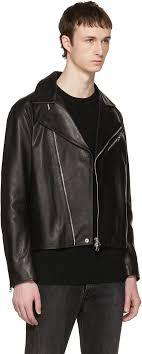 acne studios black leather axl jacket men acne studios mock leather jacket acne studios