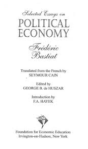selected essays on political economy online library of liberty 0181 tp