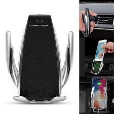 Shop bán Giá đỡ, kẹp, sạc điện thoại không dây tích hợp cảm biến tự động  đóng mở trên xe hơi, ô tô