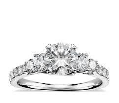 truly zac posen five stone trellis diamond engagement ring in