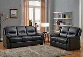 black high grade genuine leather 3 seater sofa 2 seater leather sofa suite new york