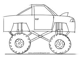 Easy Truck Drawings Learn How To Draw A Monster Truck Easy Pickup ...