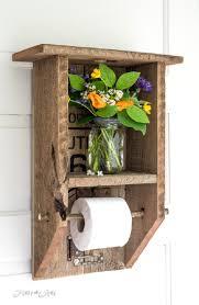 Toilet paper holder ideas Bathroom Storage 6 Reclaimed Wood Statement Shelf Homebnc 25 Best Toilet Paper Holder Ideas And Designs For 2019