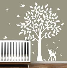 white tree wall decal for nursery white tree wall decal on decals