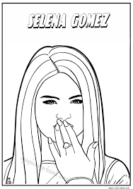 Sweet Ideas Famous People Coloring Pages Selena Gomez Of Printable