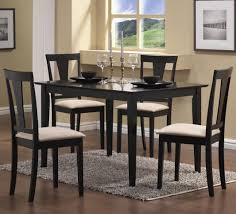 beautiful design ideas of dining room chairs with black wooden color armless chairs and white color black wood dining room