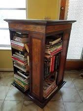 BEAUTIFUL 19TH C MARQUETRY INLAID REVOLVING BOOKCASE