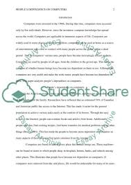 peoples dependence on computers essay example topics and well  peoples dependence on computers essay example