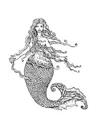Free printable coloring pages and connect the dot pages for kids. Pretty Mermaid Coloring Pages For Girls 101 Coloring