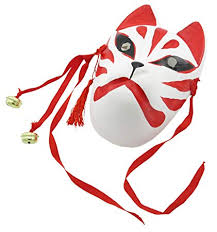 japanese for mask amazon com nakimo fox mask japanese style anime fox mask cosplay