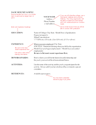 Basic Resume Sample Basic Resume Sample Recommended Font Size Is No Smaller Than 46