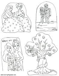 Adam And Eve Coloring Pages For Kids Coloring Home Adam And Eve